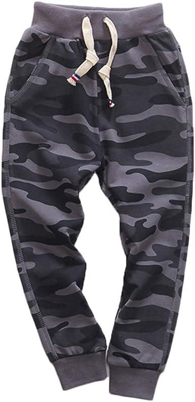 Amazon Com Kisbini Pantalones Deportivos De Algodon Camuflaje Para Ninos Clothing