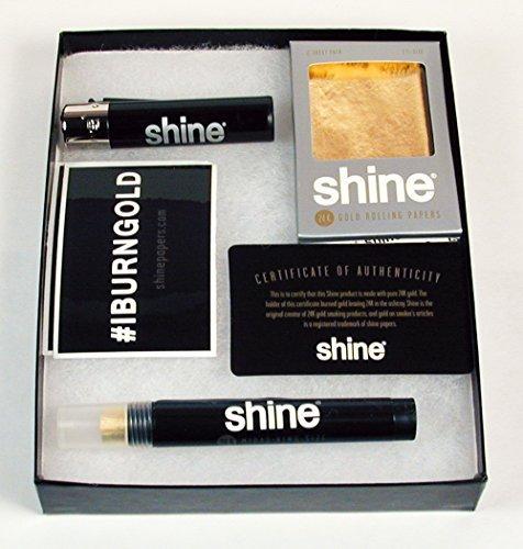 Shine Gift (Shine 24K Gold Rolling Paper Gift Box & Bonus Greeting)
