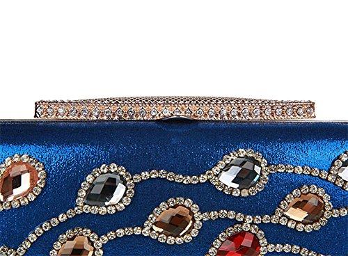 Flada - Cartera de mano para mujer morado morado mediano azul