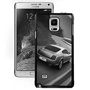 Fashionable And Unique Designed Cover Case For Samsung Galaxy Note 4 N910A N910T N910P N910V N910R4 With Bentley Continental GT Black And White_Black Phone Case