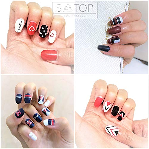 S on TOP 3D Polish Gel Pattern Glitter Nail Wrap Sticker for Halloween Party Nail Full Nail Polish Patch Strips Fake Temporary Manicure Tattoo Art Transfer Decal DIY Sticker for -