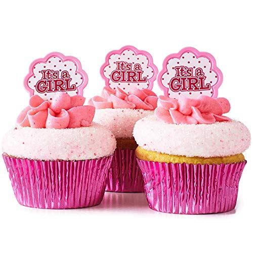 (24) It's a Girl Cupcake Toppers KIT - (24)