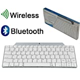 BESTEK Ultra Compact Slim Profile Wireless Bluetooth Keyboard for Apple iPad & iPhone Series, iMac/Mac Book, Samsung, Nokia and Blackberry Phones and Tablets (White)