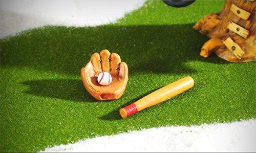 Baseball Bat and Glove Dollhouse Miniature Fairy Faerie Garden GI 706474 - My Mini Fairy Garden Dollhouse Accessories for Outdoor or House (Miniature Baseball)