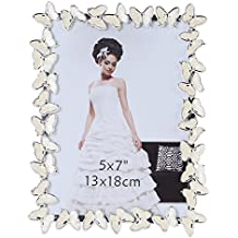 Giftgarden Metal Butterfly Decor 5 by 7 -Inch Picture Frame for Photo 5x7