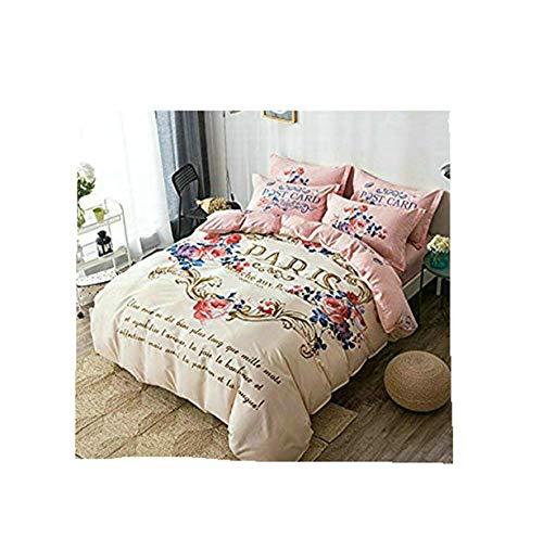Bed Set 100% Cotton Bedding Sheet Set Duvet Cover Pillow Cases Flat Sheet No Comforter 3pc Twin Sheets Set 59