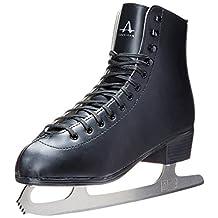 American Athletic Shoe Men's Tricot Lined Figure Skates, Black