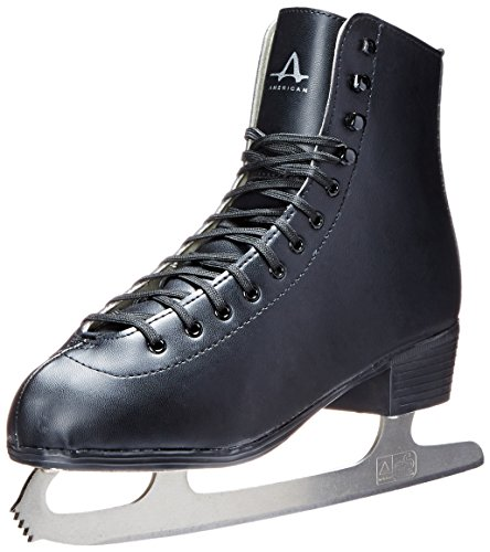 American Athletic Shoe Men's Tricot Lined Figure Skates, Black, 8 Black Mens Ice Skates