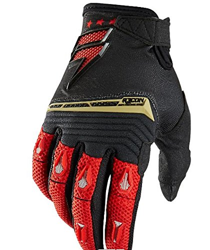 Shift Racing Recon Men's MotoX Motorcycle Gloves - Black/Red / Large (Motorcycle Recon Gloves)
