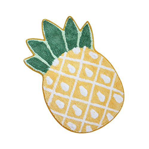 OLIA HOME Pineapple Shaped Cartoon Carpet Creative Door Mat Cute Floor Mat Entry Carpet Comfy Bedroom Home Decorate Floor Kids Playing Mat 32 inch by 20 inch