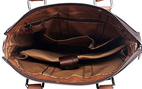 Bolso De Los Hombres Del Bolso Del Mensajero Bolso Del Bolso De Hombro Bolso De La Computadora De La Cartera De La Capacidad Grande Brown1