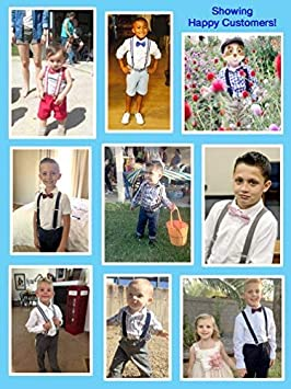 1 Inch Suspender Perfect for Tuxedo 22 Suspenders for Kids Brown