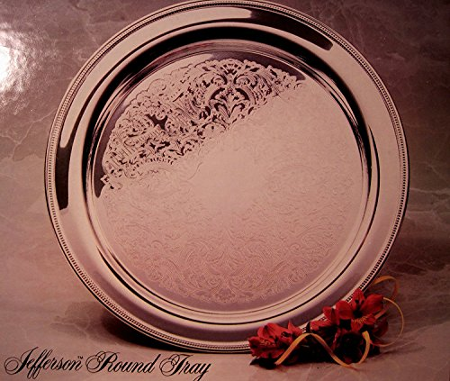 Oneida, Silver-Plate 15 Inch Jefferson Round Tray