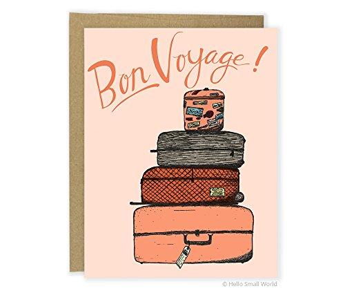 - Bon Voyage Luggage Card, Sweet Goodbye Card, Leaving Card