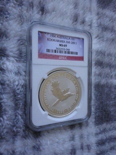Kookaburras 1 Oz Silver Coins - 1996 kookaburra NGC MS69 1oz 999 SILVER coin Australia (sold by OCEANIA COINS)