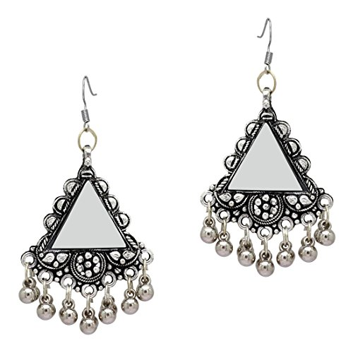 tal Oxidized Earrings Pair for Women (GSE784SLV) ()