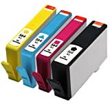 E-Z Ink Remanufactured Ink Cartridge Replacement for New Generation HP 564XL CN684WN CN685WN CN686WN CN687WN (1 Black, 1 Cyan, 1 Magenta, 1 Yellow), Office Central