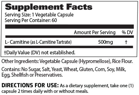 Gat Sport Essentials L Carnitine 60 Vegetable Capsules