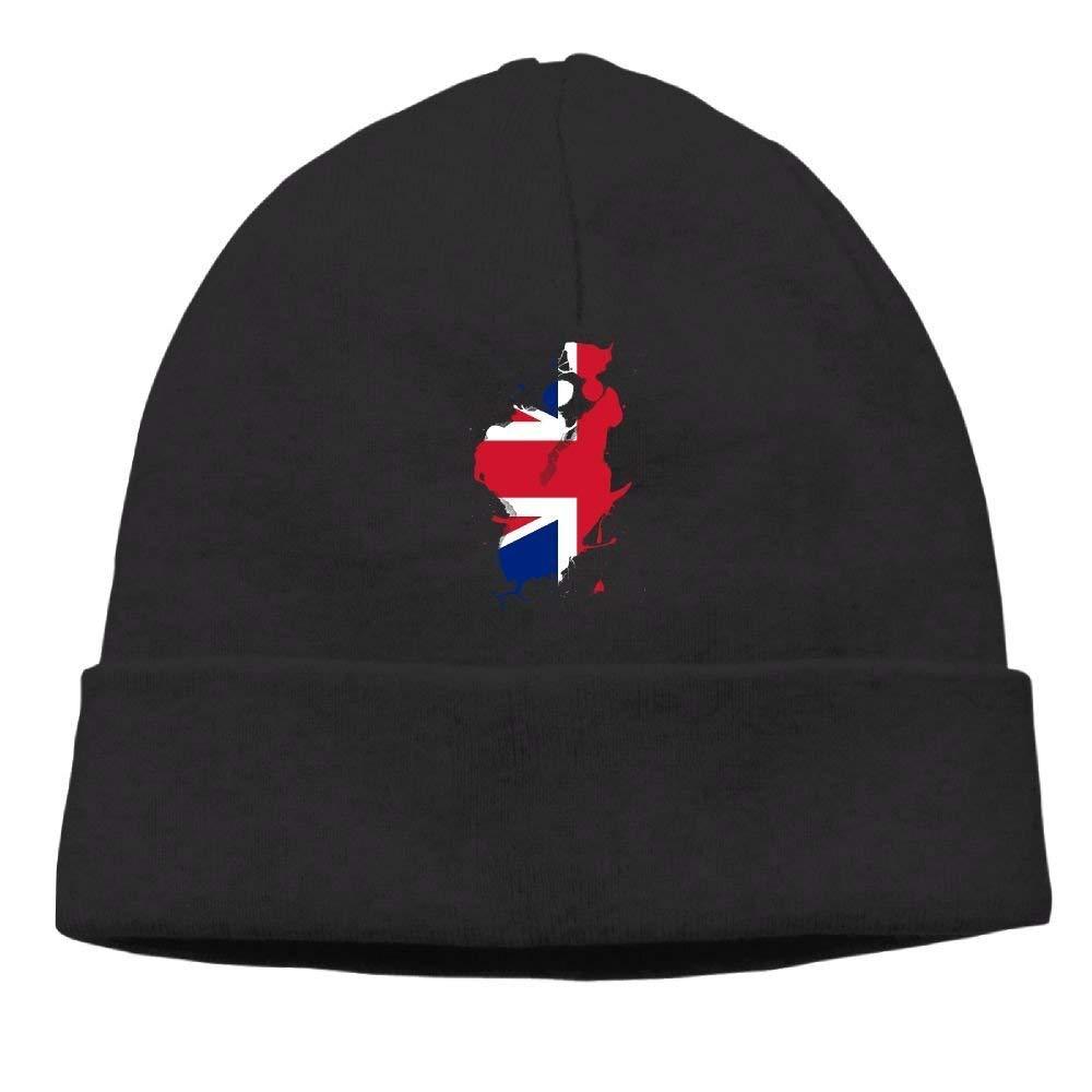 boy Unisex England Flag Ink Classic Fashion Daily Beanie Hat Skull Cap Go Ahead