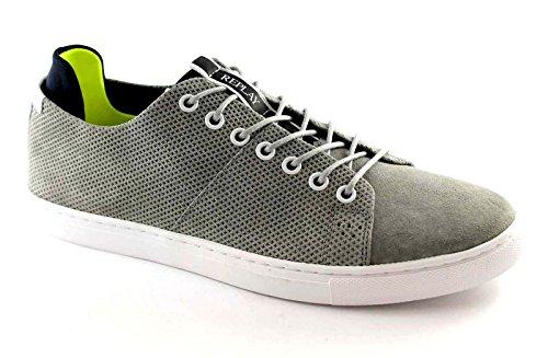 REPLAY RZ590003L Dunedin Grey Scarpe Uomo Sneakers Lacci camoscio grigio