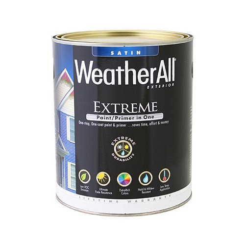 true value mfg company waes9-qt WAES9, True Value, Premium Weatherall Extreme, Paint/Primer In One, QT, White, Exterior Satin Paint