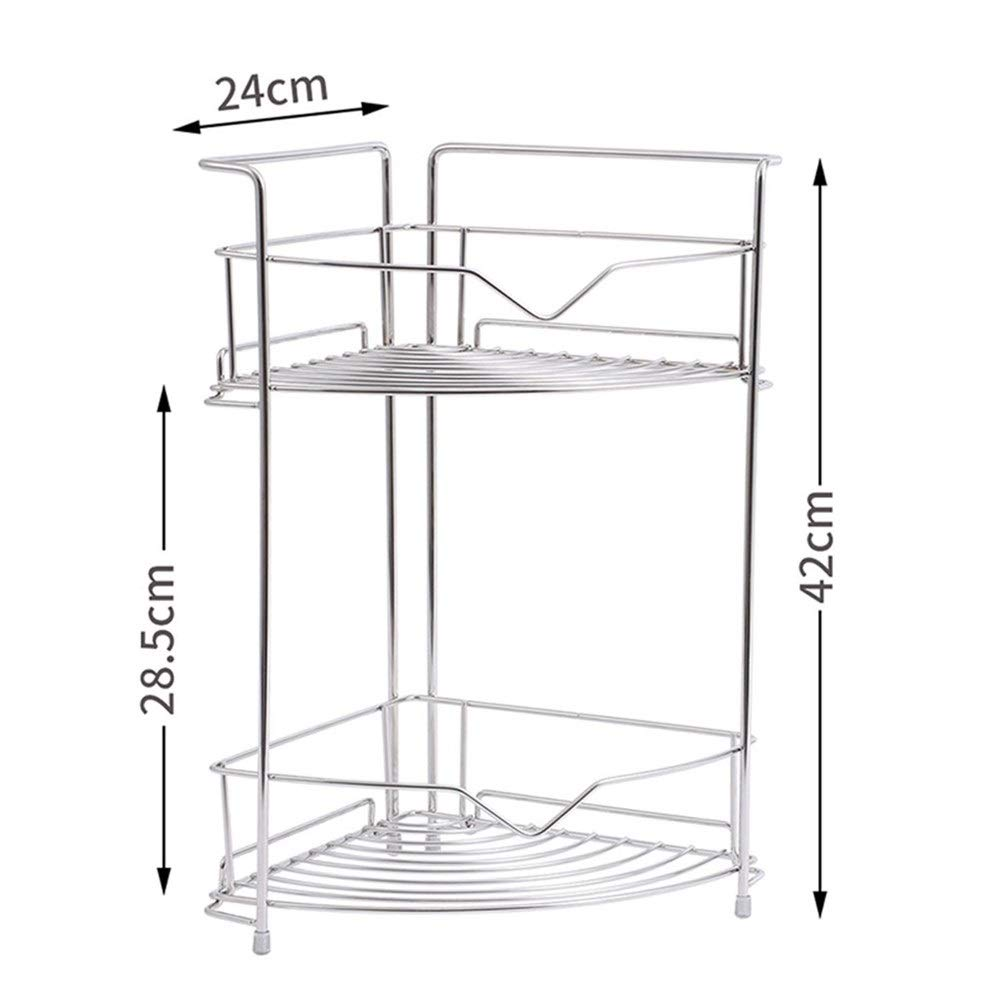 Kitchenware Space management Stainless Steel Double Space management Home Seasoning management Device Space management Tray Kitchen Corner Frame Tripod Easy to install Space management Space managemen