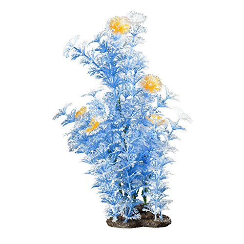 Elive Glow Elements Topaz Blue Cabomba-Large-9-10 Aquarium Décor Plastic Plants