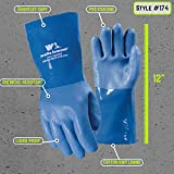 Heavy Duty PVC Coated Work Gloves, Liquid/Chemical