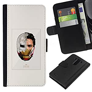 ZCell / LG G3 / Iron Superhero Suit Poster Movie / Caso Shell Armor Funda Case Cover Wallet / Hierro Superhéroe Traje Póster Pel&ia