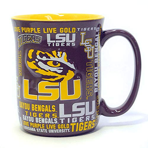 NCAA LSU Tigers Sculpted Spirit Mug, 17-ounce - Lsu Tigers Coffee Mug