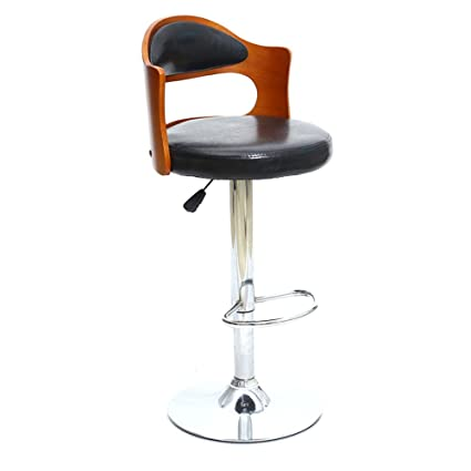 cf1612341bc0 Barstools MAZHONG PU Black Bar Chair 360° Swivel Chair Bar Stool Kitchen  Stool Breakfast Bar