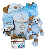 Puppy Love Moses Baby Gift Basket with Free Personalization