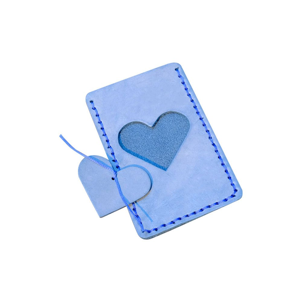 Zhi Jin Exquisite Leather Credit Card Sleeve Protectors Holder Case Bus Card Sleeves Organizer Set Travel School Gift Pack of 2 Blue