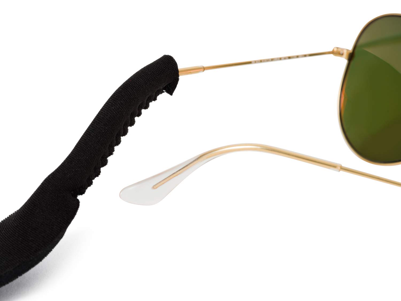 ACEET 5 Paquete Correas El/ásticas de Neopreno para Gafas y Gafas de Sol Ajustable Cord/ón Flotante Negro con Bonus Pa/ño de Limpieza para Gafas