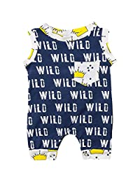 Annvivi Baby Boys Summer Wild Crown Sleeveless Harem Romper Jumpsuit Outfit Clothes