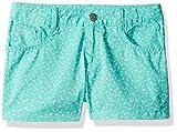 Gymboree Little Girls' 5 Pocket Woven Shortie, Spearmint Sprinkles, 4