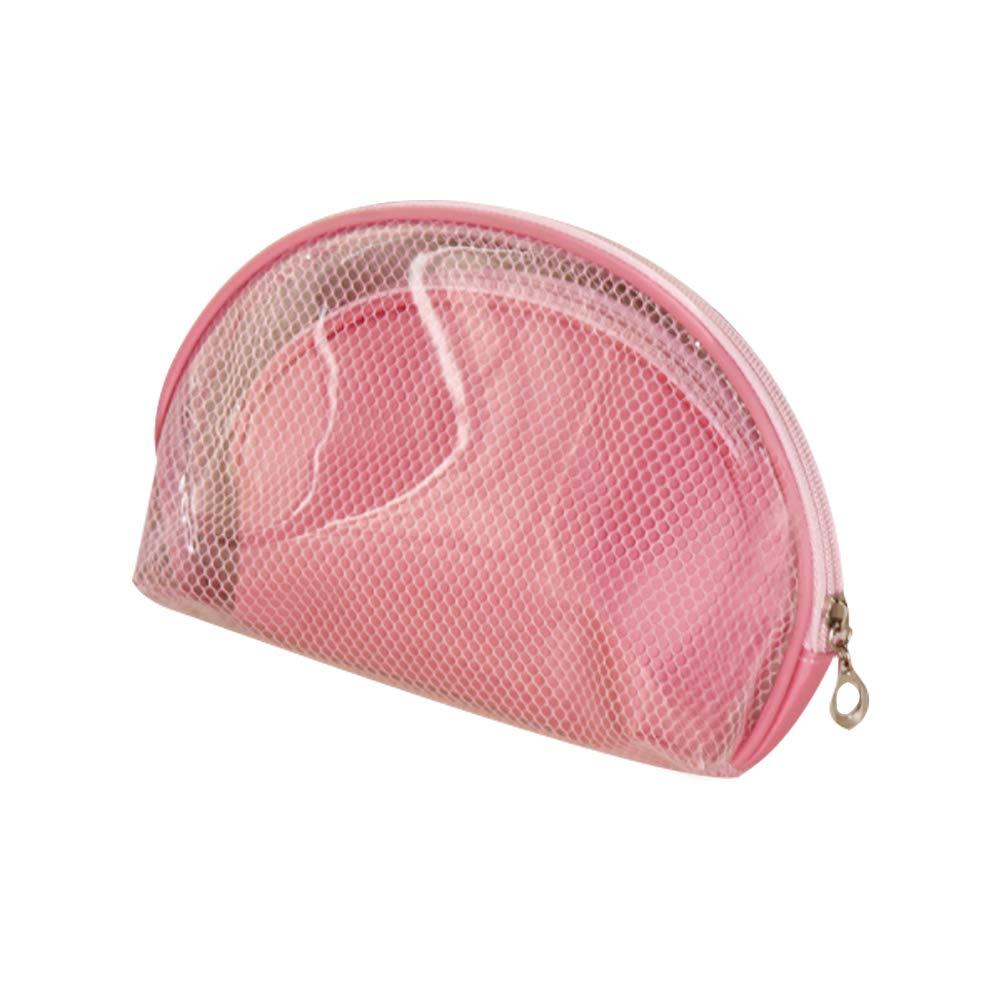 Il Mio Ji Trasparente borsa da trucco Trasparente borsa di cosmetici in PVC A prova di acqua di plastica borsa Organizer da viaggio portatile per donne Ragazze Rosa 2PCS mi ji