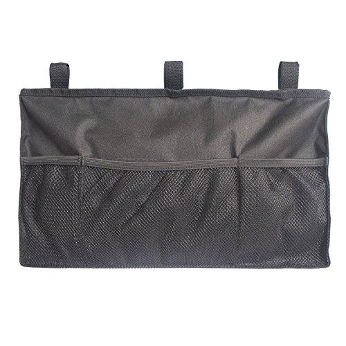 MDSTOP Walker Organizer, Hanging Storage Bag, Waterproof Accessory Tote Caddy, Universal Fits for Walkers, Scooters or Rollator Walkers (Black,...