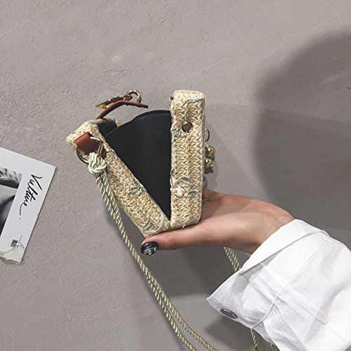 With AIURBAG Handbag Metal Women Lock Shoulder Crossbody For Small Bag Fashion Woven Box Straw For Women rf1EAwOnqr