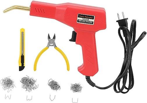 Bumper Plastic Welding Machine Set Red Car Bumper Repair Thermal Disoldering Soldering Machine Kit UK Plug