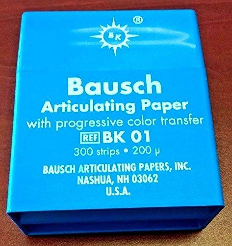 Bausch BA-BK01 Articulating Paper Pre-Cut Strip, Shape, (Pack of 300) by BAUSCH