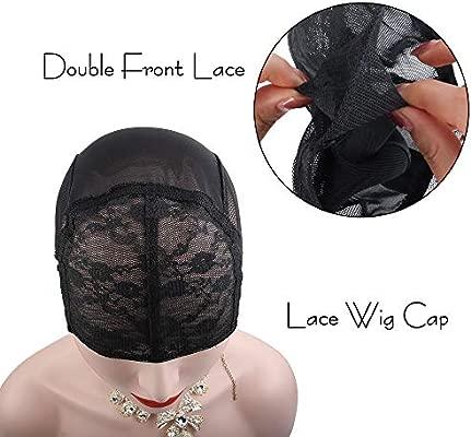 2pcs casquillos ajustables de la peluca del cordón doble para las ...