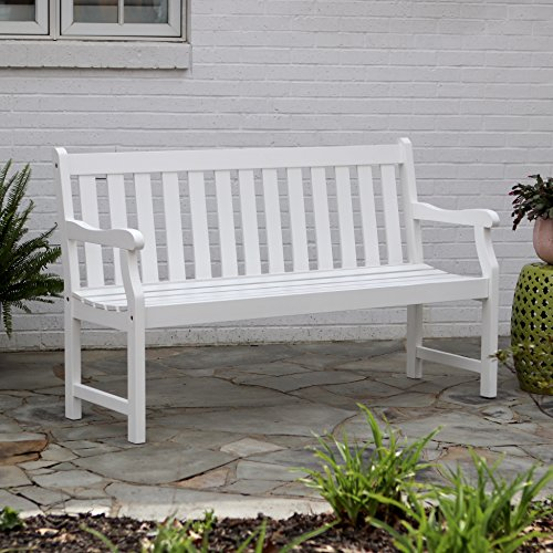 Décor Therapy FR8587 Outdoor Bench, White (Furniture Outside White)