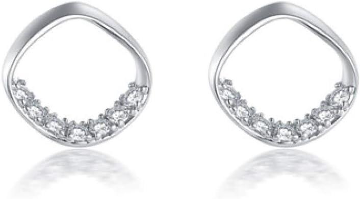 Amazon Com Myzixuan Sterling Silver Earrings Diamond Studded Stud