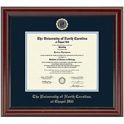 Amazon.com : UNC Fidelitas Diploma Frame : Sports & Outdoors