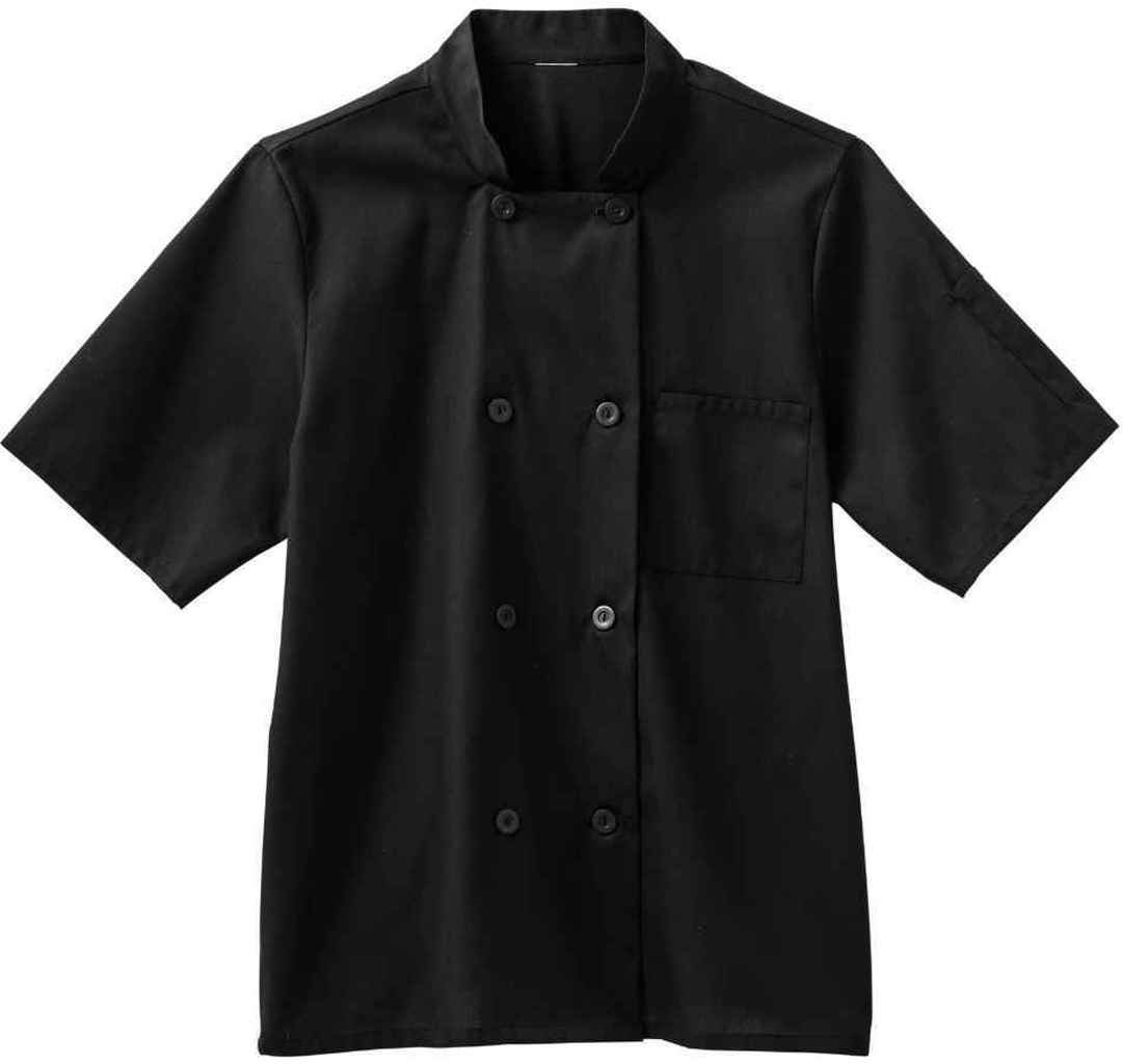 Five Star Chef Apparel Men's Moisture Wicking Mesh Back Coat (Black, Large)