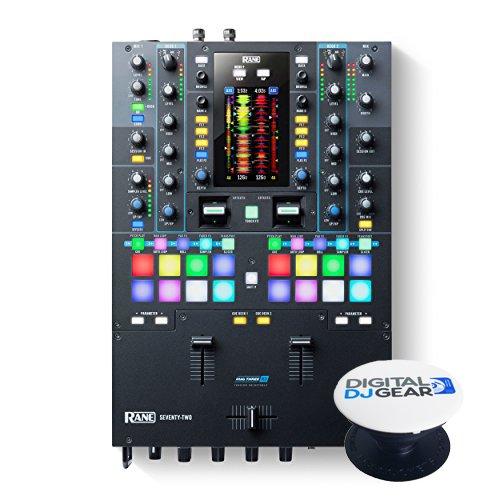 (Rane SEVENTY TWO 72-2 Channel DJ Mixer with Touch Screen W/Free Pop Socket)