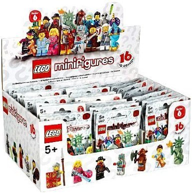 Lego Mini Figure Case Collection Series 6 Chase Bag Box 60 Packs Minifigures