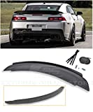 Extreme Online Store for 2014-2015 Chevrolet Camaro | EOS ZL1 Style ABS Plastic Primer Black Rear Trunk Lid Wing Spoiler W/Aluminum Glossy Black Center WickerBill Insert