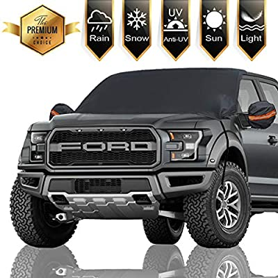"""Frelong Windshield Snow Cover Car Ice Covers, Extra Larger Size 97"""" x 63"""" Cars Shade Cover - Waterproof, Sun Protection for All Cars, Trucks, SUVs, MPVs"""